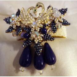 Swan Lapis Bracelet