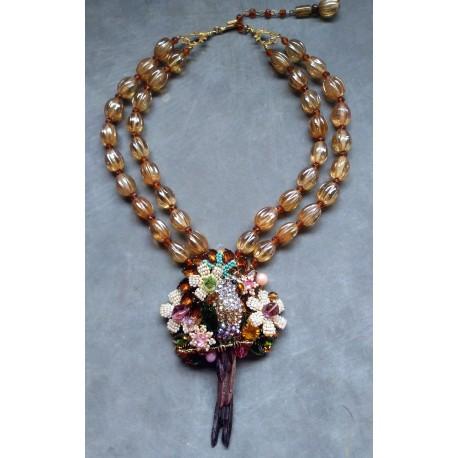 LONG TAILED Rhinestone HAWK Necklace