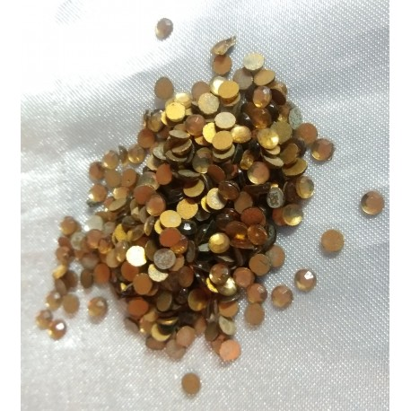 3mm Swarovski Gold Rhinestone Flatbacks